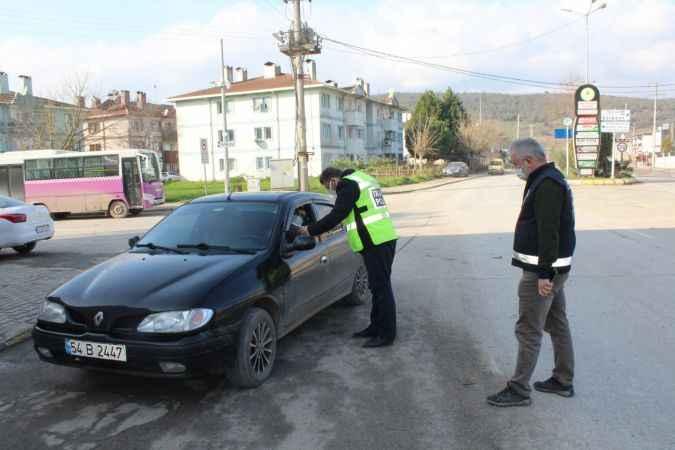 Ferizli'de sokağa çıkma kısıtlaması denetimleri gerçekleştirildi