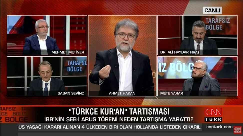 """Mehmet Metiner, """"Üniversiteler fuhuş yuvasıdır"""" diyen Sofuoğlu'nu savununca canlı yayın karıştı"""