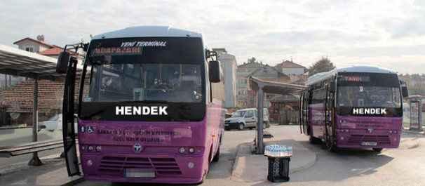 Hendek halk otobüslerinde kalkış saatleri kargaşası yaşanıyor