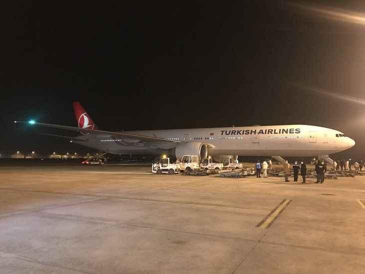 Çin'den sipariş edilen koronavirüs aşılarını taşıyan uçak iniş yaptı