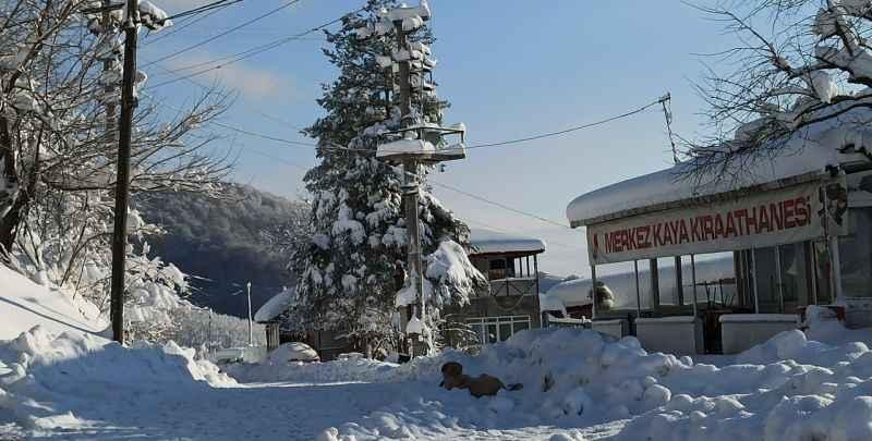 Karasu Ortaköy'de kar yaşamı olumsuz etkiliyor