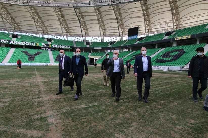 Hatay Milletvekilinden Yeni Sakarya Stadyumu'na ziyaret