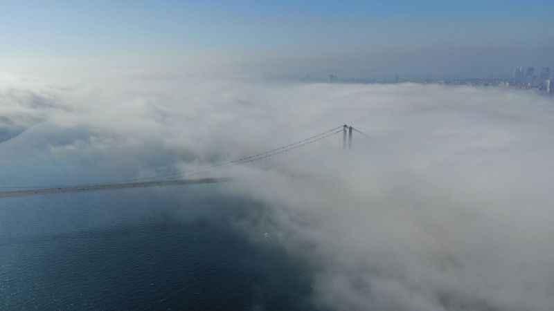 Boğaz'ın Marmara girişinde yoğun sis