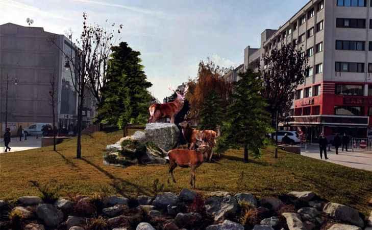 Bolu Belediyesi, ayı heykeli yapmaktan vazgeçti