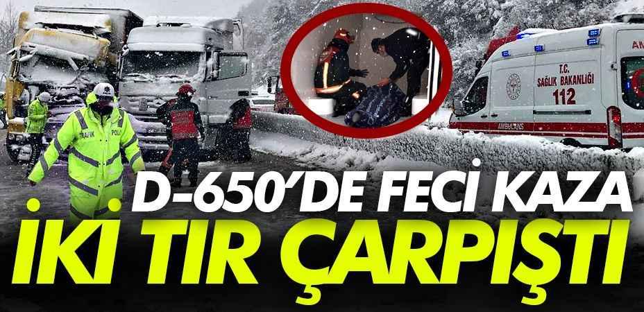 D-650'de kaza: 1 yaralı, yol trafiğe kapandı