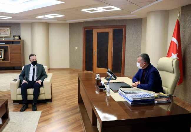 AA Sakarya Bölge Müdürü Velioğlu'ndan Kocaeli Büyükşehir Belediye Başkanı Büyükakın'a ziyaret
