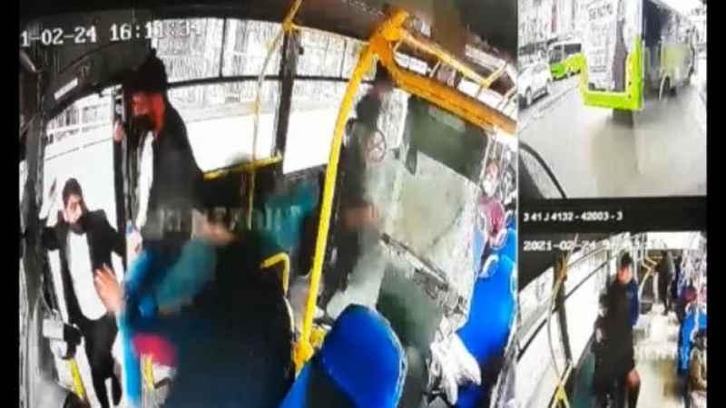 HES kodu uyarısı yapan halk otobüsü şoförünü darbettiler