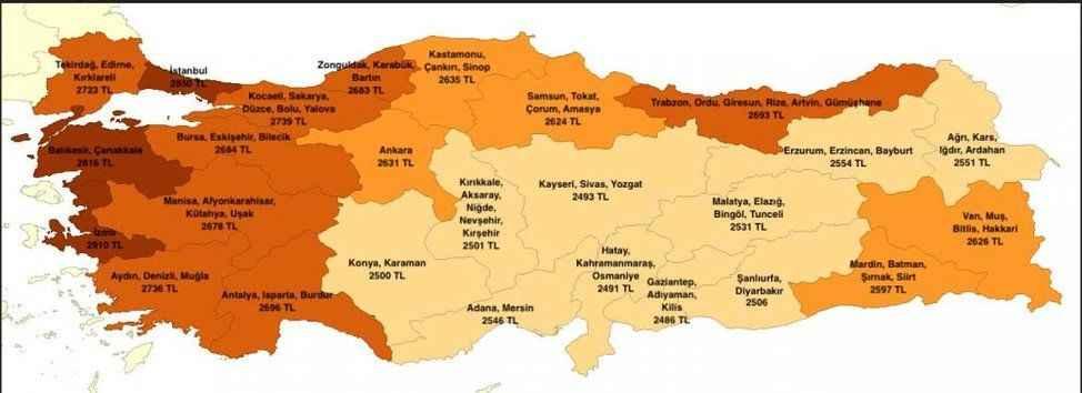Sakarya'da açlık sınırı 2 bin 739 liraya yükseldi