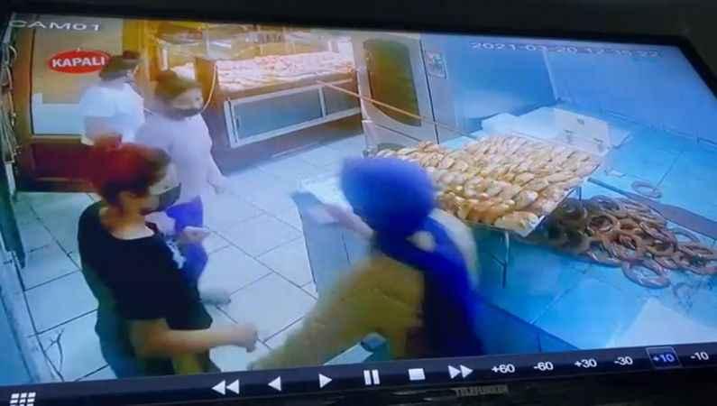 Yurttan kaçan 3 kız çocuğu, pastanenin güvenlik kamerasına yansıdı
