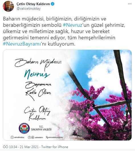 Vali Kaldırım Nevruz'u kutladı