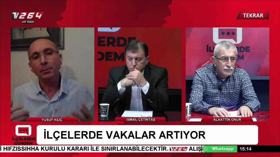 TV264'te İlçelerde Gündem'de Salı günü saat 15.00'te