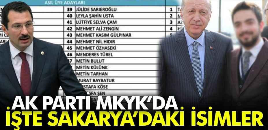 AK Parti MKYK Listesi'nde Sakarya'dan iki isim