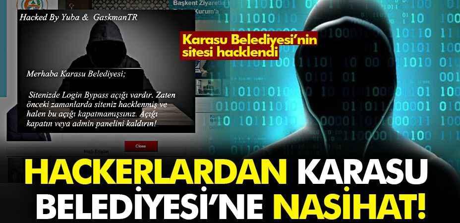 Karasu Belediyesi'nin sitesi hacklendi!
