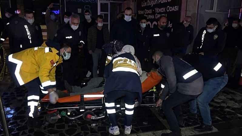 İnşaat firmasına geldiler; 1 kişiyi bıçakla, 4 kişiyi de silahla yaraladılar