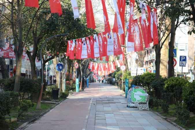 Kocaeli'de cadde ve sokaklarda sessizlik hakim