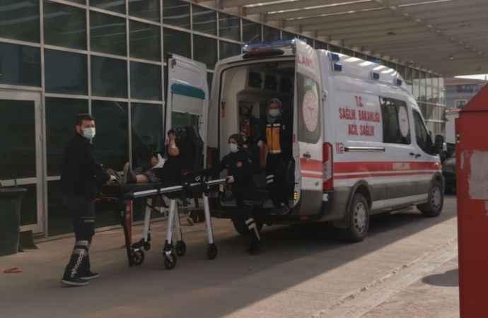 Yılanın ısırması sonucu yaralanan kadın hastaneye kaldırıldı