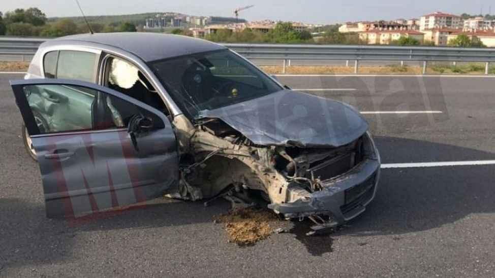Yeni otoyolda kaza! 3 kişi yaralandı