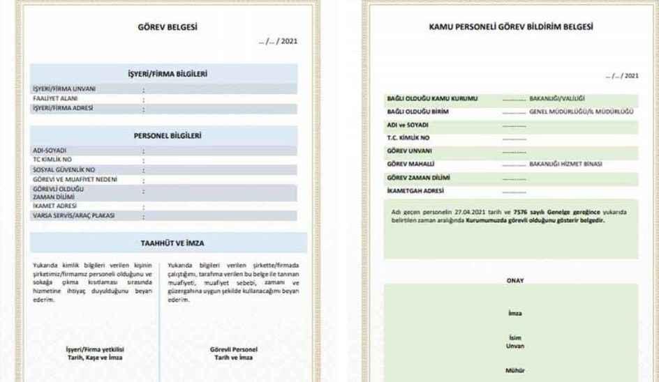 İş yerlerinin hazırladığı görevlendirme belgeleri 2 Mayıs gece yarısına kadar geçerli olacak
