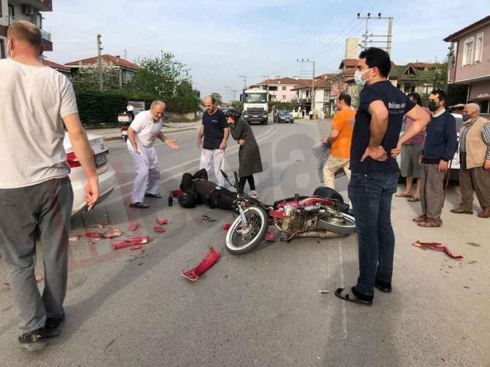 Evine giden bekçi kazaya karıştı…Kadın sürücü büyük şok yaşadı