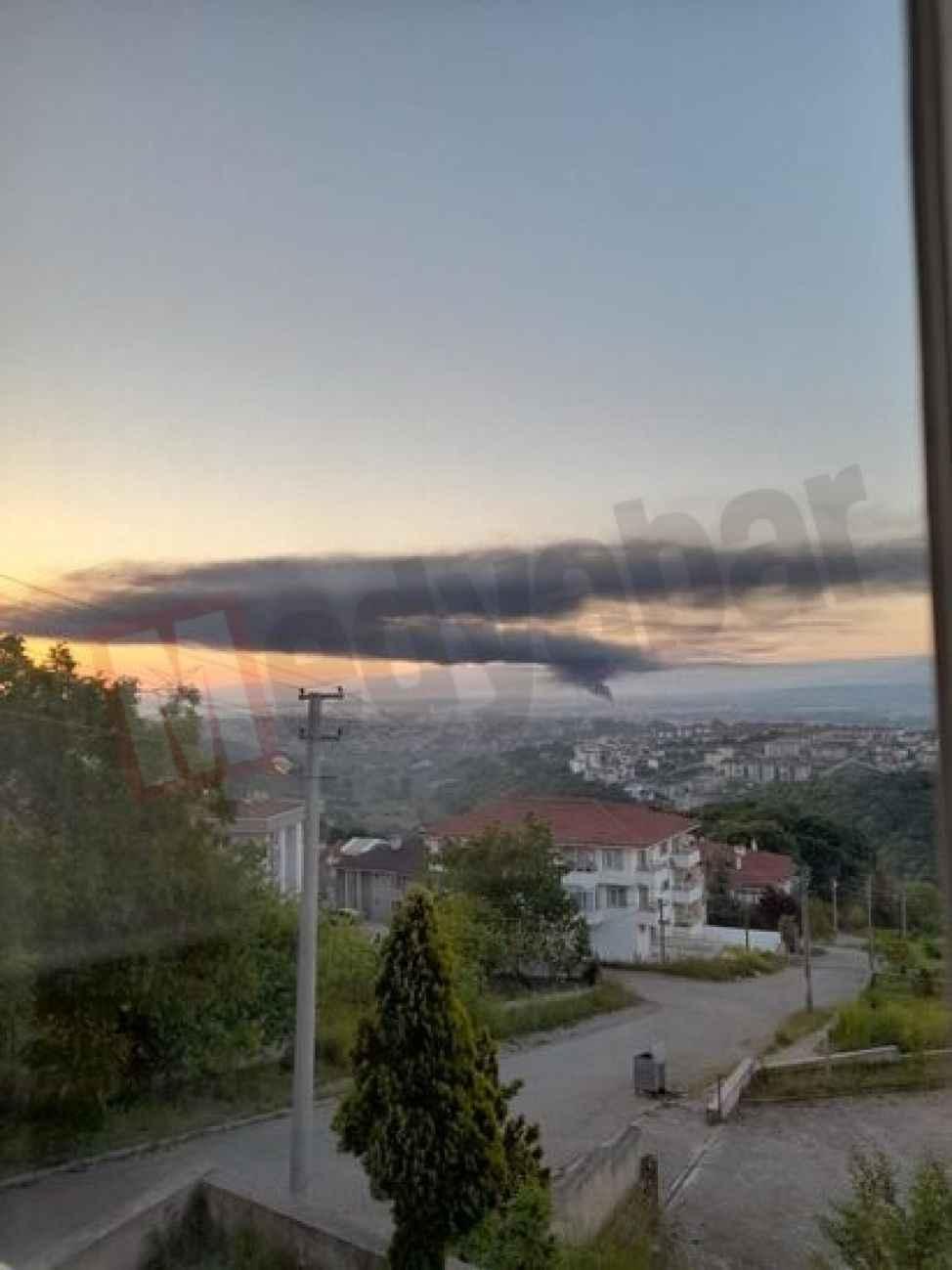 Şehir kara dumanla kaplandı!