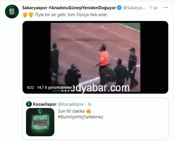 Sakaryaspor ilk golü sosyal medyada attı!