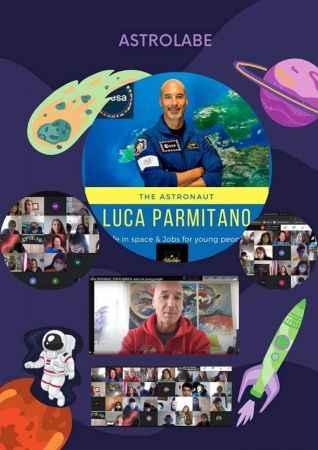 İtalyan astronot Luca Parmitano, Sakarya'daki ortaokul öğrencileriyle çevrim içi toplantıda buluştu