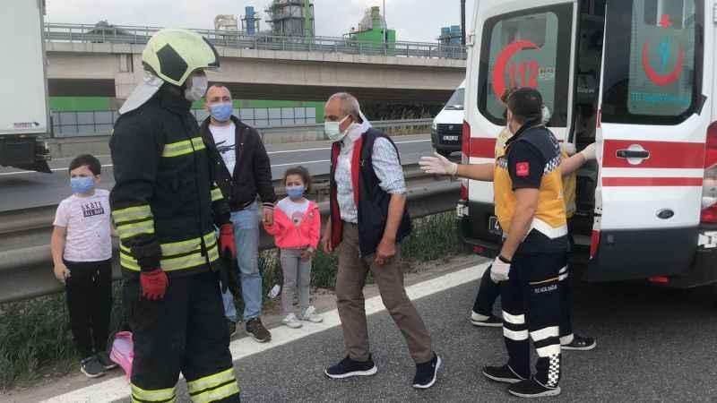 Anadolu Otoyolu'nda iki yolcu otobüsü çarpıştı: 8 yaralı