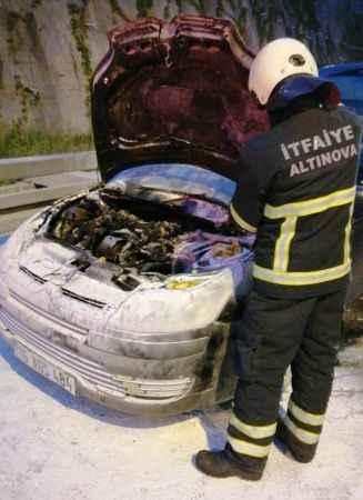 Orhangazi Tüneli'nde araç yandı