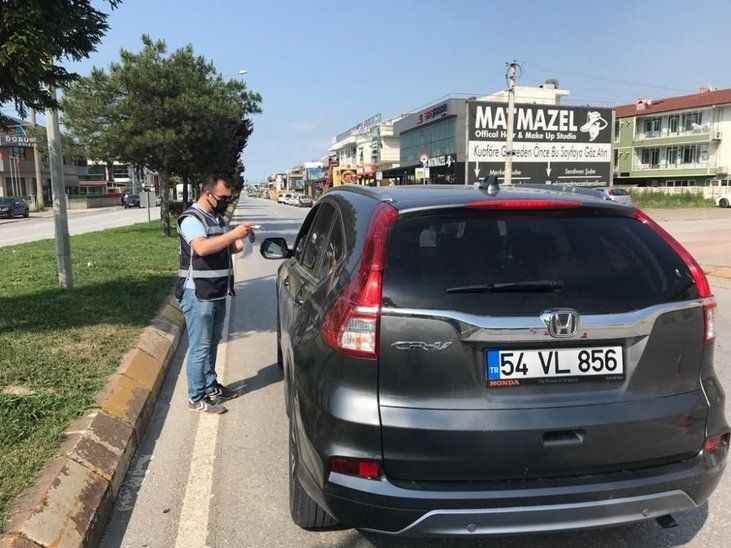 Serdivan'da araçlara sıkı denetim