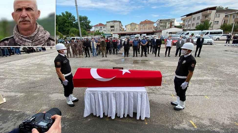 Emekli Özel Harekat Polisi  törenle memleketine uğurlandı