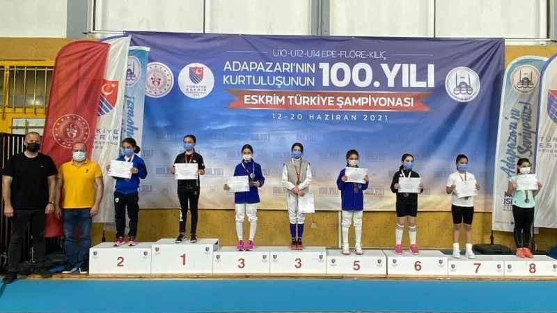10, 12 ve 14 Yaş Altı Eskrim Türkiye Şampiyonası sona erdi