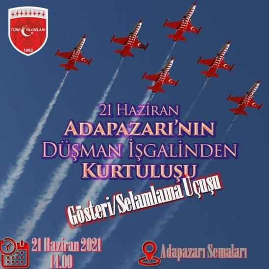 Türk Yıldızları saat 14.00'de 'Adapazarı' için uçacak!