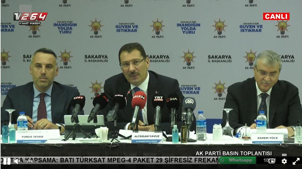 AK Parti basın toplantısı detayları...