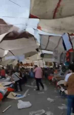 Çarşamba pazarı adeta savaş alanına döndü