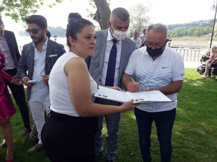 Caymaz ile Şahin Hasan Bilal'in nikah şahidi oldu