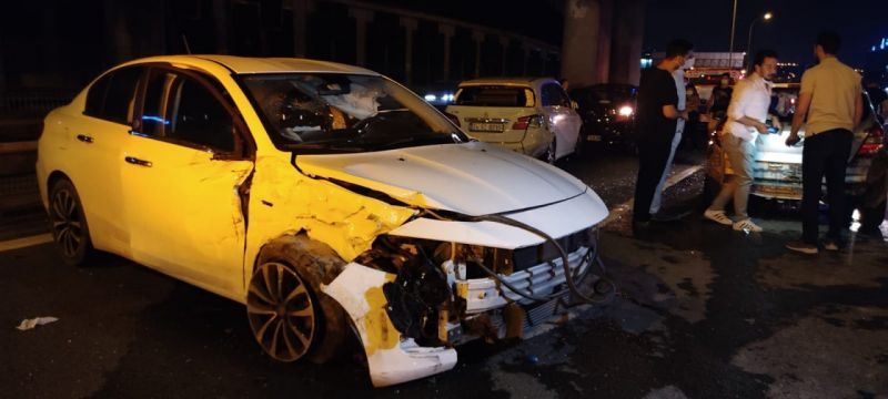TEM Otoyolu'nda zincirleme trafik kazası