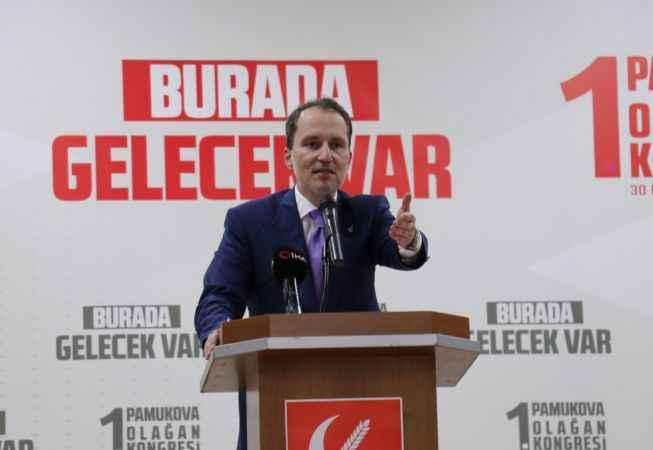 Erbakan, partisinin Pamukova kongresinde konuştu