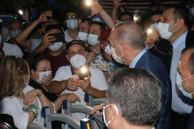 Cumhurbaşkanı Erdoğan'a Sapanca'da sevgi seli