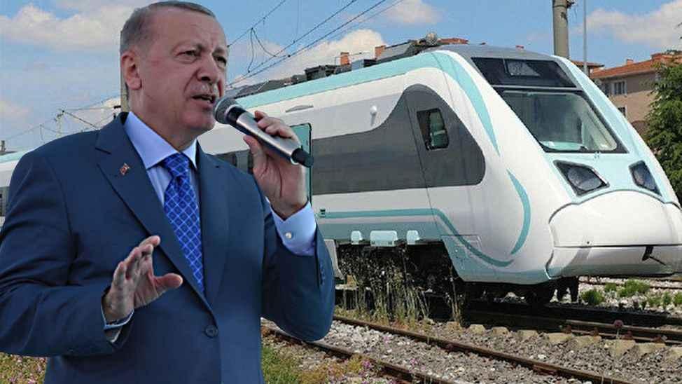 ERDOĞAN SAKARYA'DA (7) Yerli ve Milli Elektrikli tren test sürüşlerine başladı...