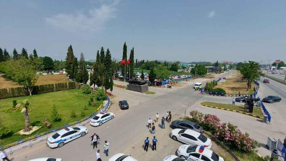 Erdoğan'ın ziyareti öncesi Tank Palet'de geniş güvenlik önlemleri alındı