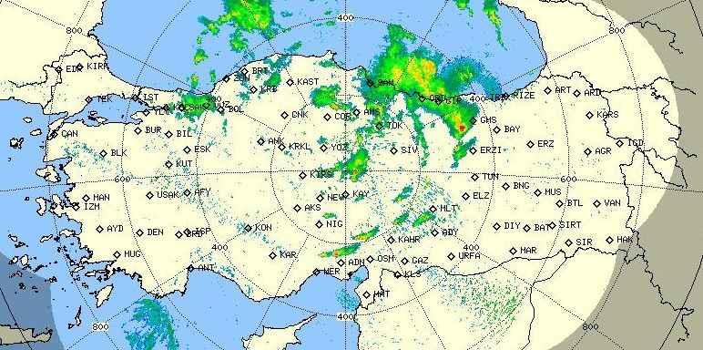 İşte son radar görüntüsü... Kütle tam Sakarya'nın üzerinde!