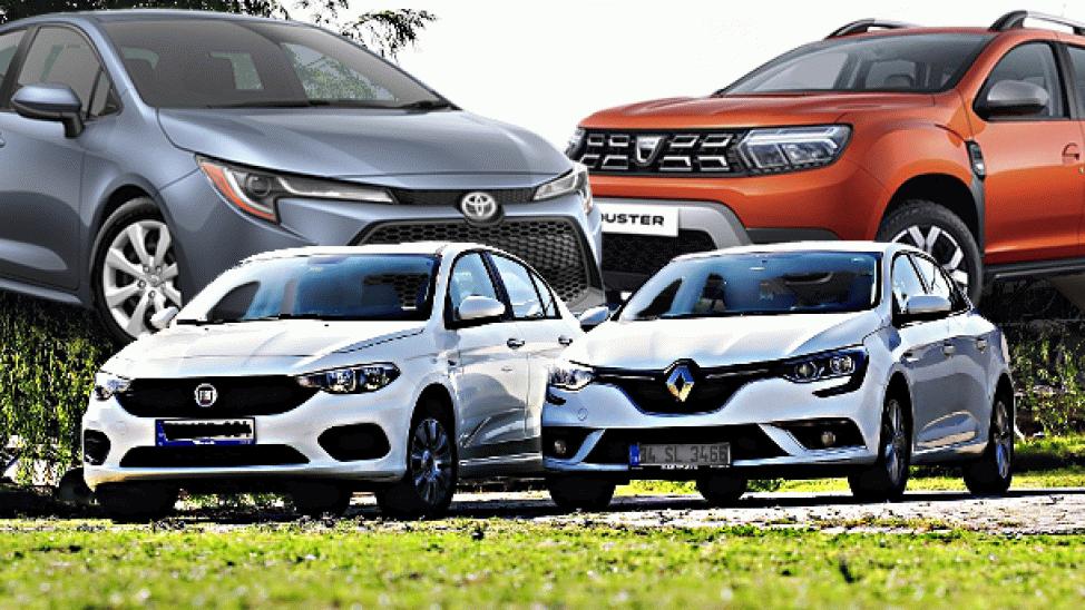 İşte Türkiye'de ilk 6 ayda en çok satılan otomobiller