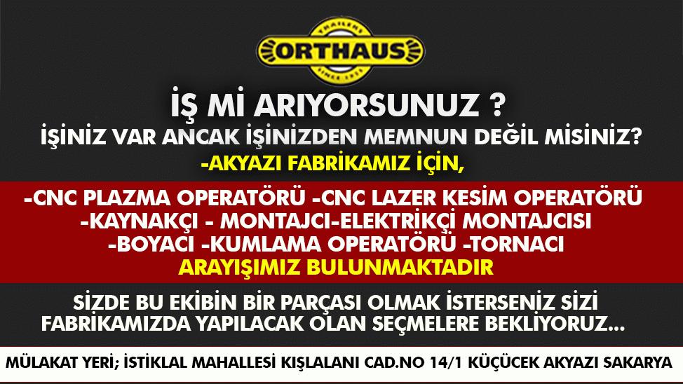 Orthaus firması personel alımı yapacak!