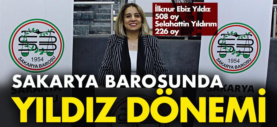 Sakarya Barosu'nun yeni Başkanı Yıldız! İlk kez bir kadın Baro başkanı oldu!