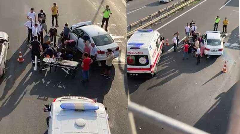 TEM Akyazı geçişinde kaza! Kadın sürücü ağır yaralandı