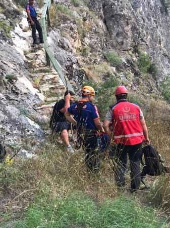 Bilecik'te kanyonda mahsur kalan kişi kurtarıldı