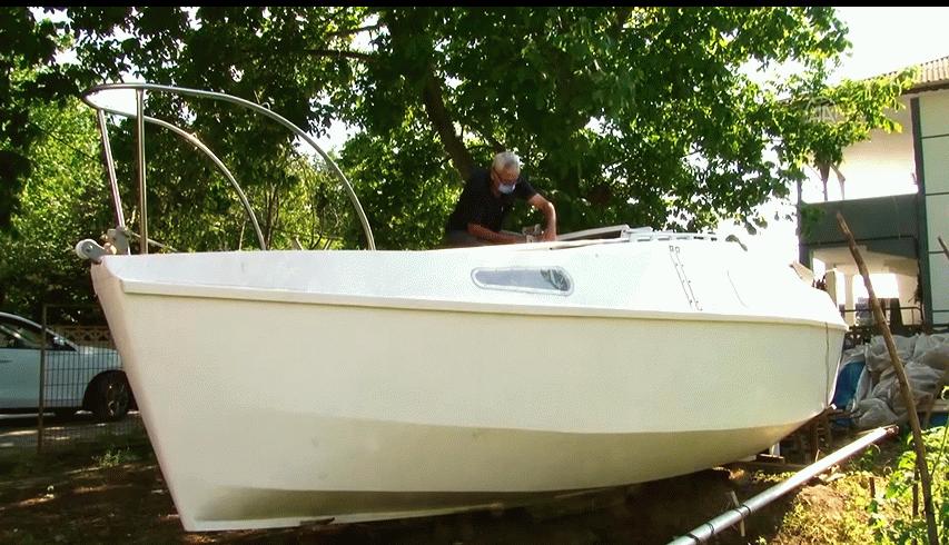250 bin liralık tekneyi 80 bine mal ederek maviliklere açılmaya hazırlanıyor