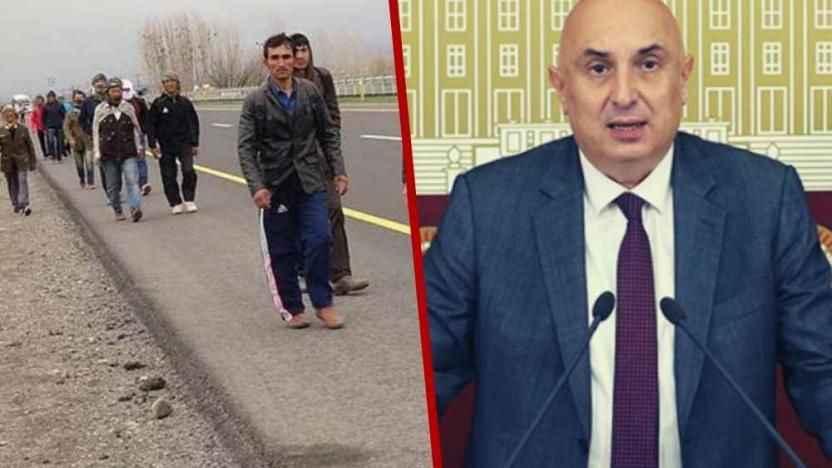 Özkoç'tan Bakan Soylu'ya  'Başıboş göçmenlere çözüm bulun'