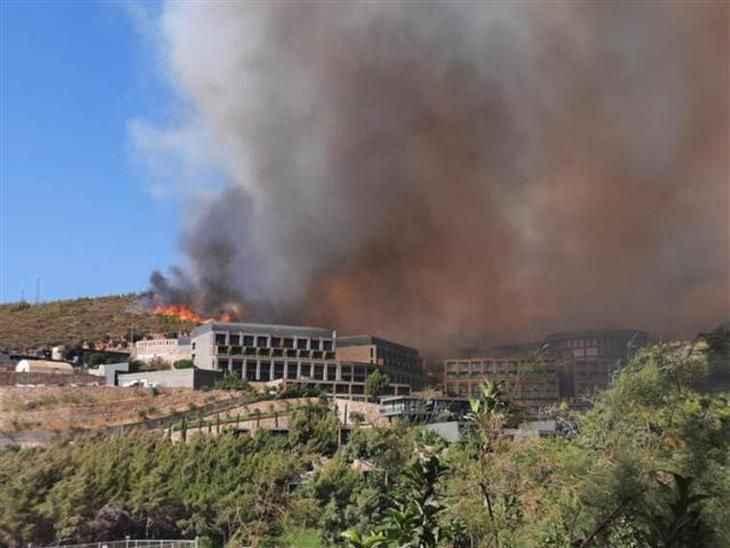 Bodrum'da bir yangın daha! Oteller tahliye ediliyor