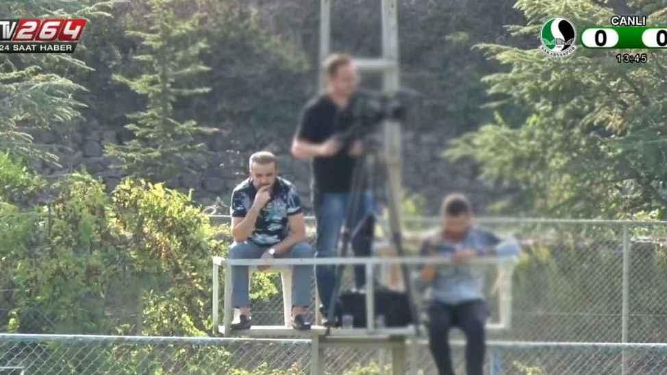 Başkan Cumhur Genç, maçı kuleden izledi